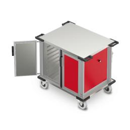 Speisentransportbox für 16 x GN 1/1 Flex 2 Fächer nebeneinander Höhenraster 75 mm