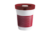 cupit, Becher + Snackdeckel ø 95 mm / 0,35 l dark cherry mit Magic Grip + Boden