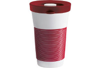 cupit, Becher + Snackdeckel ø 95 mm / 0,47 l dark cherry mit Magic Grip