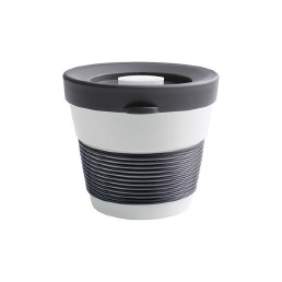 cupit, Becher + Snackdeckel ø 95 mm / 0,23 l soft black mit Magic Grip + Boden