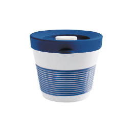 cupit, Becher + Snackdeckel ø 95 mm / 0,23 l deep sea blue mit Magic Grip