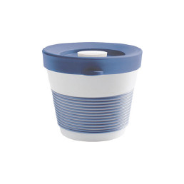 cupit, Becher + Snackdeckel ø 95 mm / 0,23 l stormy blue mit Magic Grip