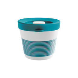 cupit, Becher + Snackdeckel ø 95 mm / 0,23 l green lagoon mit Magic Grip + Boden