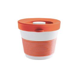 cupit, Becher + Snackdeckel ø 95 mm / 0,23 l coral sunset mit Magic Grip + Boden