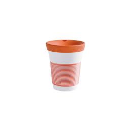 cupit, Becher + Deckel ø 95 mm / 0,35 l coral sunset mit Magic Grip