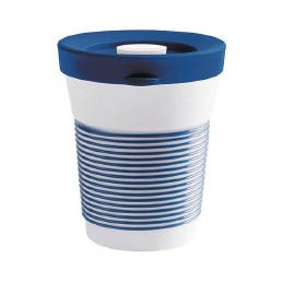 cupit, Becher + Snackdeckel ø 95 mm / 0,35 l deep sea blue mit Magic Grip