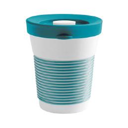 cupit, Becher + Snackdeckel ø 95 mm / 0,35 l green lagoon mit Magic Grip