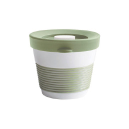 cupit, Becher + Snackdeckel ø 95 mm / 0,23 l fresh herbs mit Magic Grip + Boden