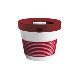 cupit, Becher + Snackdeckel ø 95 mm / 0,23 l dark cherry mit Magic Grip