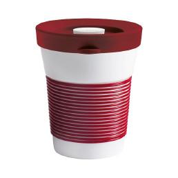 cupit, Becher + Snackdeckel ø 95 mm / 0,35 l dark cherry mit Magic Grip