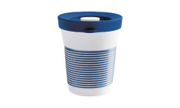 cupit, Becher + Snackdeckel ø 95 mm / 0,35 l deep sea blue mit Magic Grip + Boden