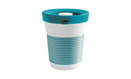 cupit, Becher + Snackdeckel ø 95 mm / 0,35 l green lagoon mit Magic Grip + Boden