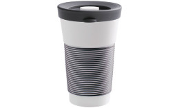 cupit, Becher + Snackdeckel ø 95 mm / 0,47 l soft black mit Magic Grip