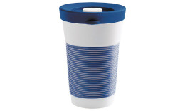 cupit, Becher + Snackdeckel ø 95 mm / 0,47 l deep sea blue mit Magic Grip