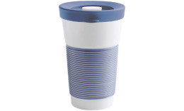 cupit, Becher + Snackdeckel ø 95 mm / 0,47 l stormy blue mit Magic Grip