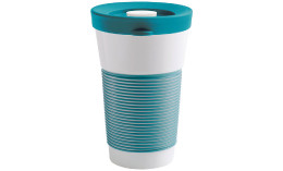cupit, Becher + Snackdeckel ø 95 mm / 0,47 l green lagoon mit Magic Grip + Boden