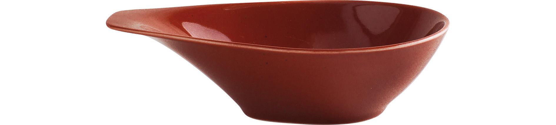 Homestyle, Schale mit Griff 210 x 144 mm / 0,40 l siena red