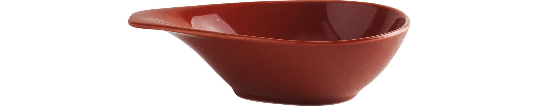 Homestyle, Schale mit Griff 178 x 127 mm / 0,25 l siena red