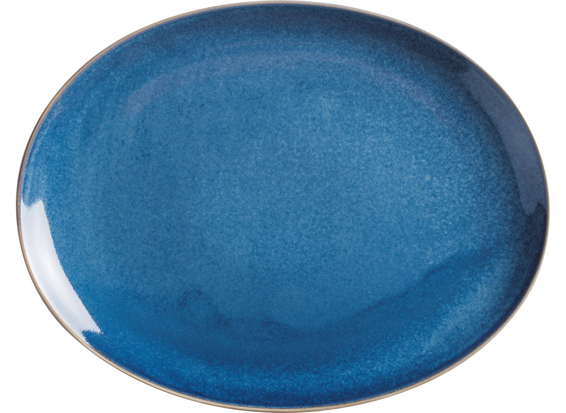 Homestyle, Platte oval 320 x 254 mm atlantic blue