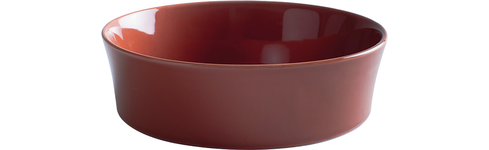 Homestyle, Auflaufform rund ø 200 mm siena red