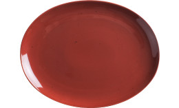 Homestyle, Platte oval 320 x 254 mm siena red