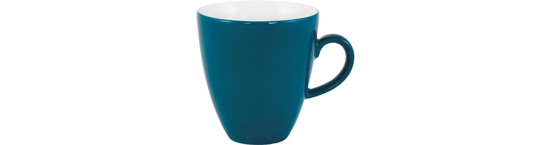Pronto, Kaffeetasse hoch ø 77 mm / 0,18 l grün-blau
