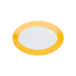 Pronto, Platte oval 230 x 155 mm orange-gelb