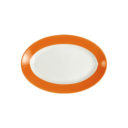 Pronto, Platte oval 230 x 155 mm orange