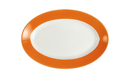 Pronto, Platte oval 230 x 155 mm orange