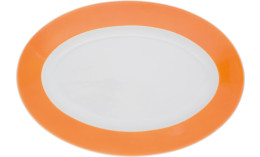 Pronto, Platte oval 320 x 220 mm orange