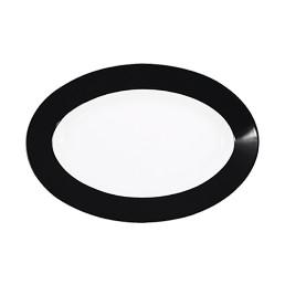 Pronto, Platte oval 280 x 190 mm schwarz