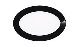 Pronto, Platte oval 230 x 155 mm schwarz