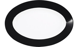 Pronto, Platte oval 320 x 220 mm schwarz