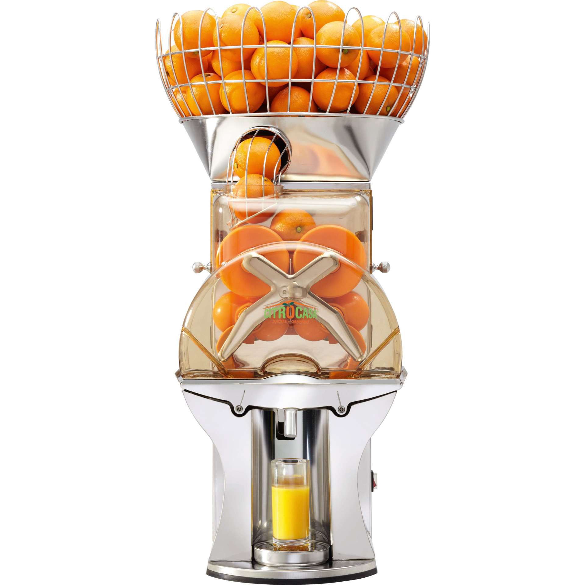 Orangensaftmaschine mit einstellb. Presszählwerk / 30 Orangen/min. / 2,00 l