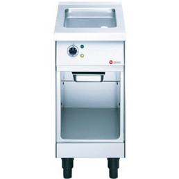 Elektro-Bratplatte glatt / 1 Heizzone / Duplex-Antihaft / 3,50 kW