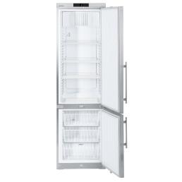 Kühl-Gefrier-Kombination 361,00 l / GCv 4060 / 600 x 615 x 2000 mm / Edelstahl