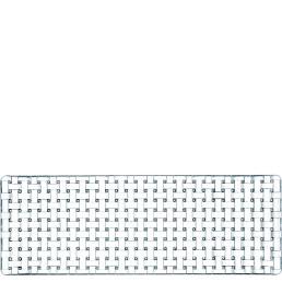 Bossa Nova, Platte rechteckig 420 x 150 mm