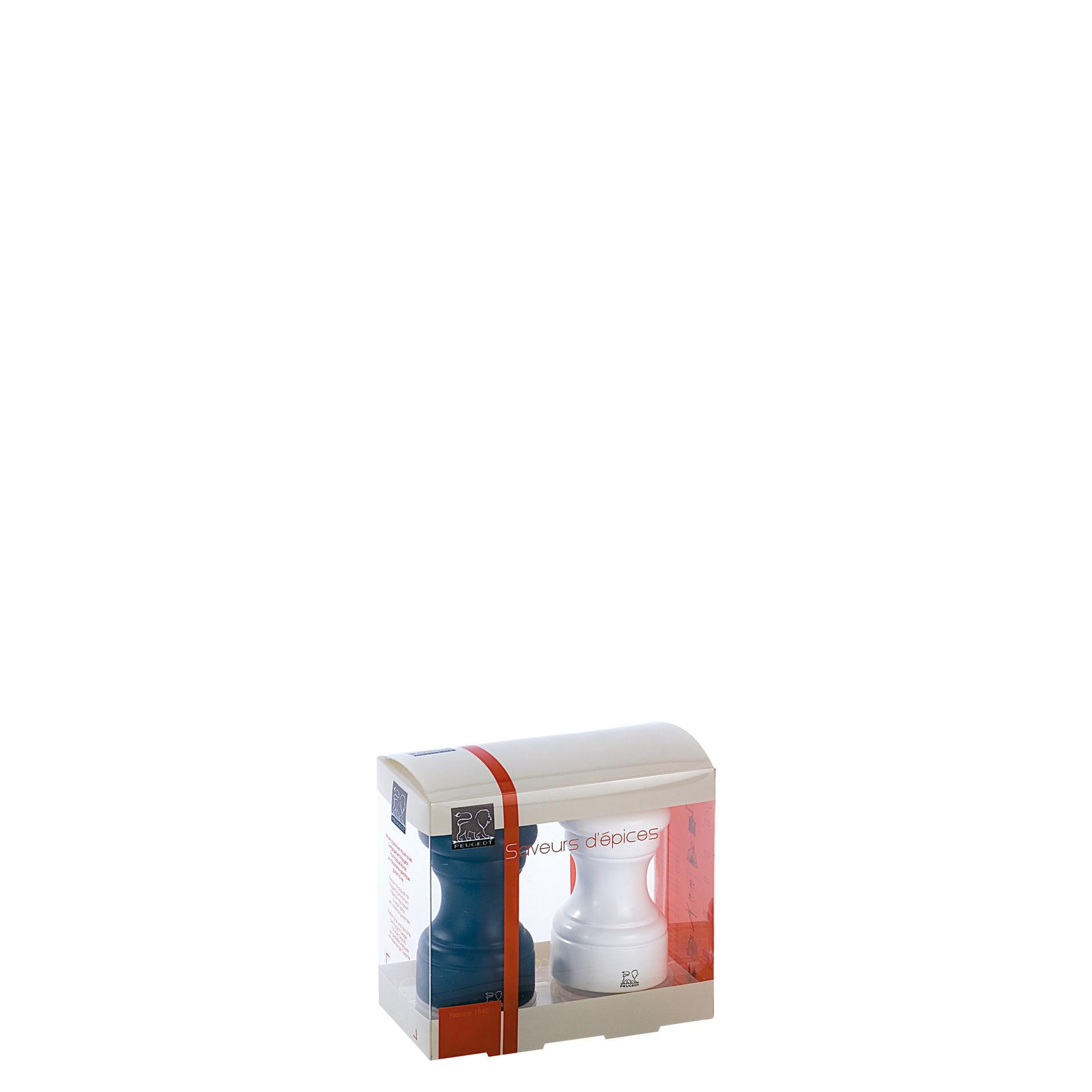 Bistro, Salz- / Pfeffermühlen Set 100 mm Buchenholz matt weiß & schwarz
