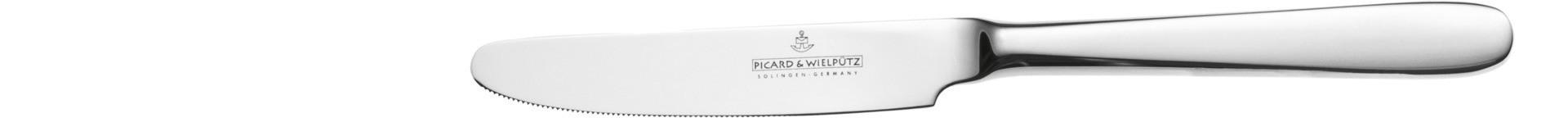 Ticino, Dessertmesser Stahlheft 204 mm ganz poliert