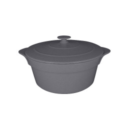 Chef's Fusion, Cocotte rund mit Deckel ø 280 mm / 4,60 l stone
