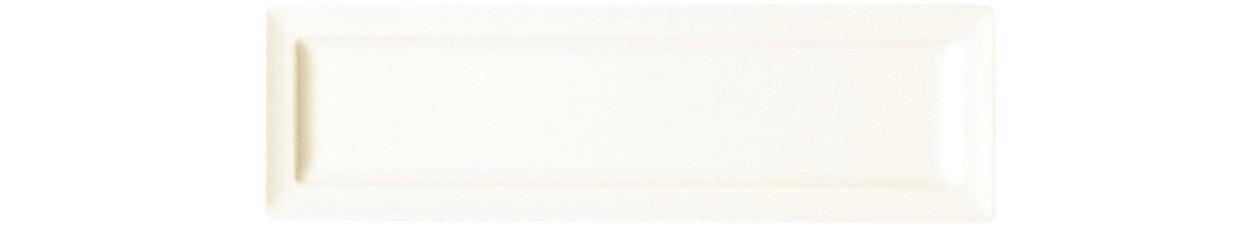 Classic Gourmet, Teller flach rechteckig 230 x 70 mm creme