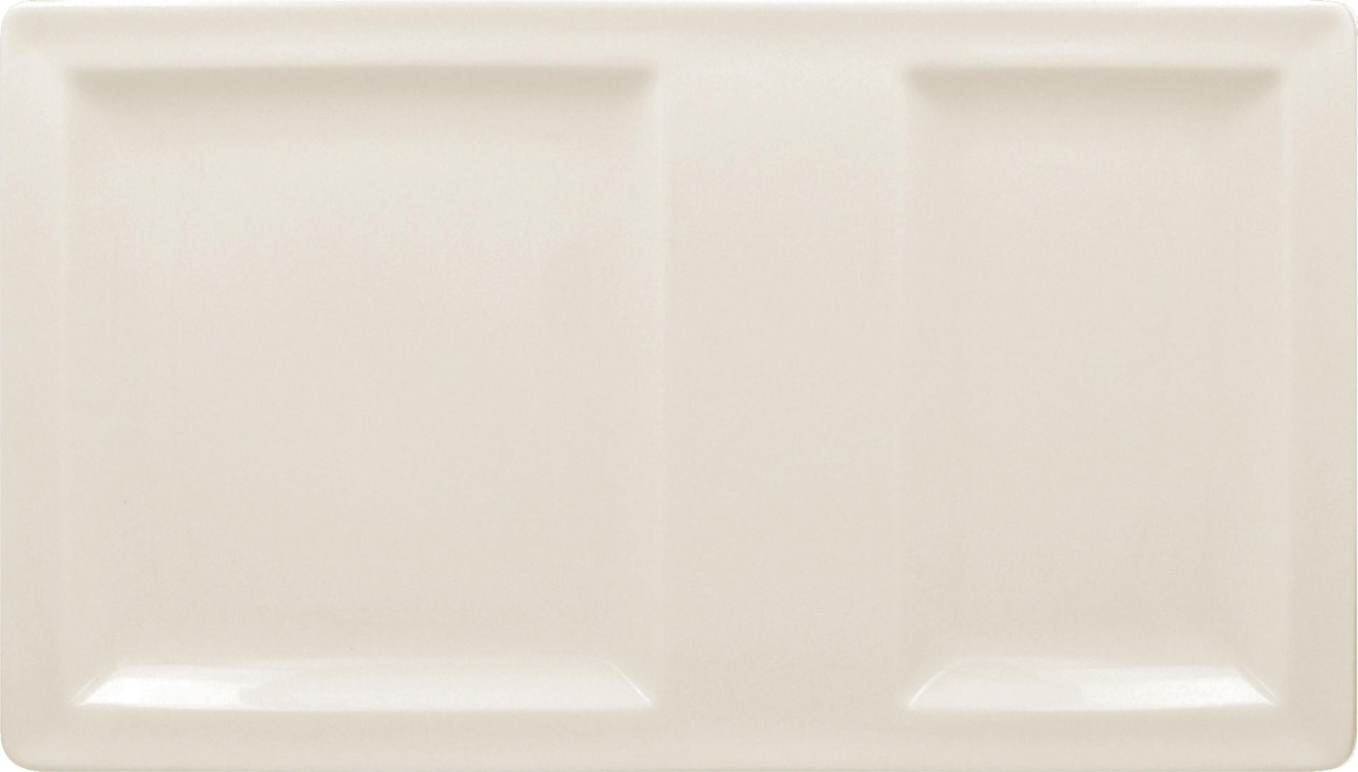 Classic Gourmet, Platte rechteckig 370 x 210 mm mit 2 Flächen creme