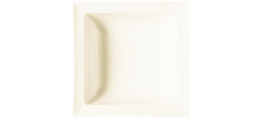 Classic Gourmet, Salatschale quadratisch 180 x 180 mm / 0,45 l creme