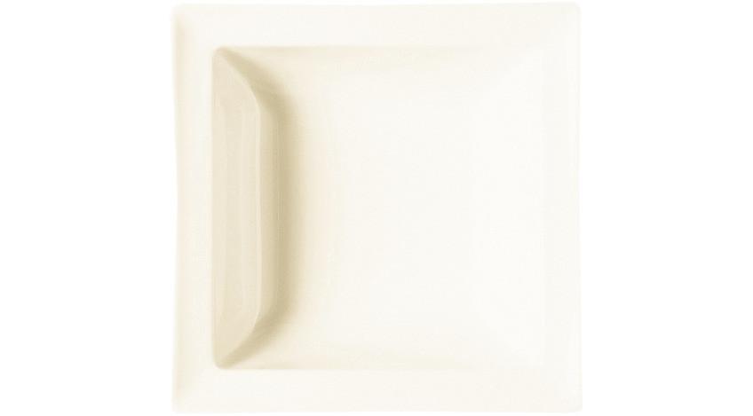 Classic Gourmet, Salatschale quadratisch 210 x 210 mm / 0,65 l creme