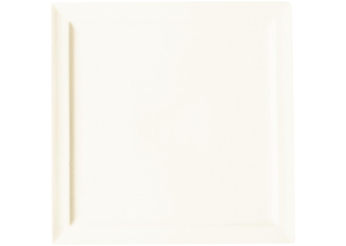 Classic Gourmet, Teller flach quadratisch 270 x 270 mm creme