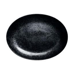 Karbon, Platte oval 320 x 230 mm