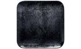 Karbon, Teller quadratisch 220 x 220 mm