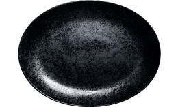 Karbon, Platte oval 360 x 270 mm