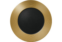 Metalfusion, Teller flach ø 330 mm black-gold