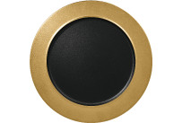 Metalfusion, Teller flach ø 320 mm black-gold
